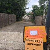 L'accès passerelle sera fermé