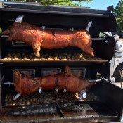 Cochon à la broche au Liberty Bar