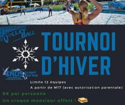 Volley-ball en mode tournoi d'hiver