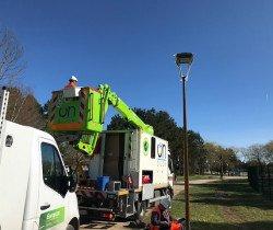 Un nouvel éclairage au parc de la Saussaie