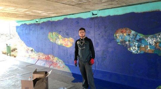 Street art : le grand bleu rien que pour vos yeux