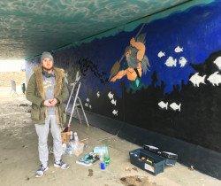 Fresque à Chevigny : un plongeon dans les océans