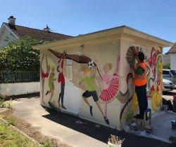 Street art au coin de la rue