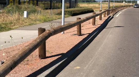 Glissières bois pour une route paysagère