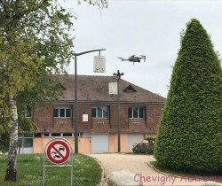 Drone sur la ville pour les 50 ans du club photo